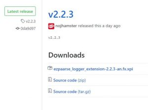 ezlogger firefox github 2.2.3