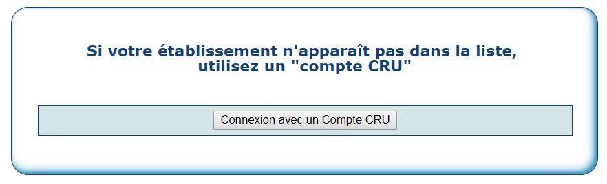 9) Connexion avec compte CRU