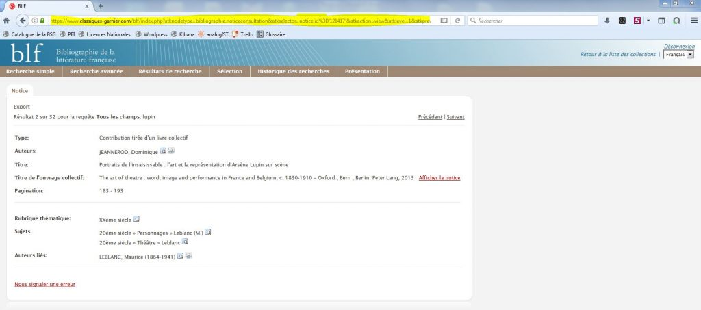garnier numérique consultation HTML reference non analysée