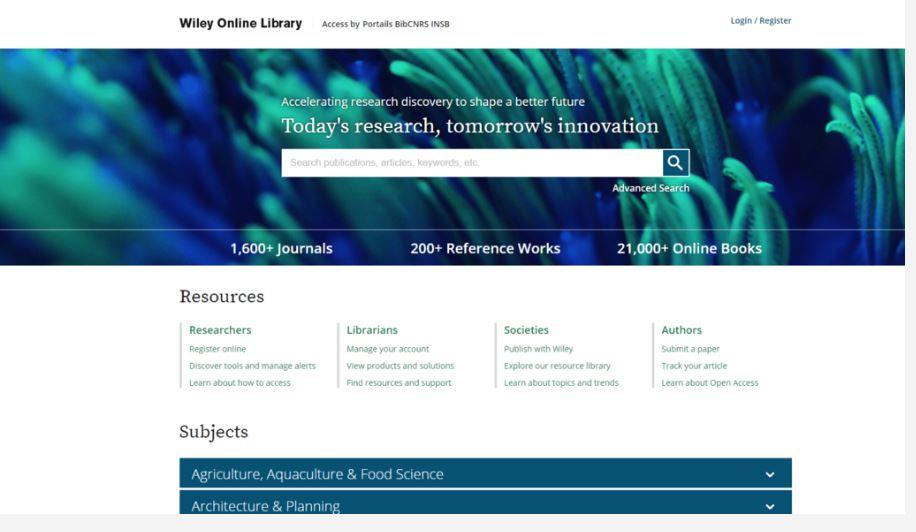 wiley nouvelle plateforme en ligne