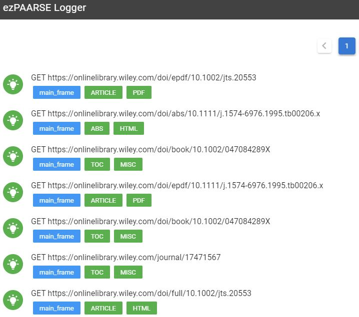 wiley tests ezlogger