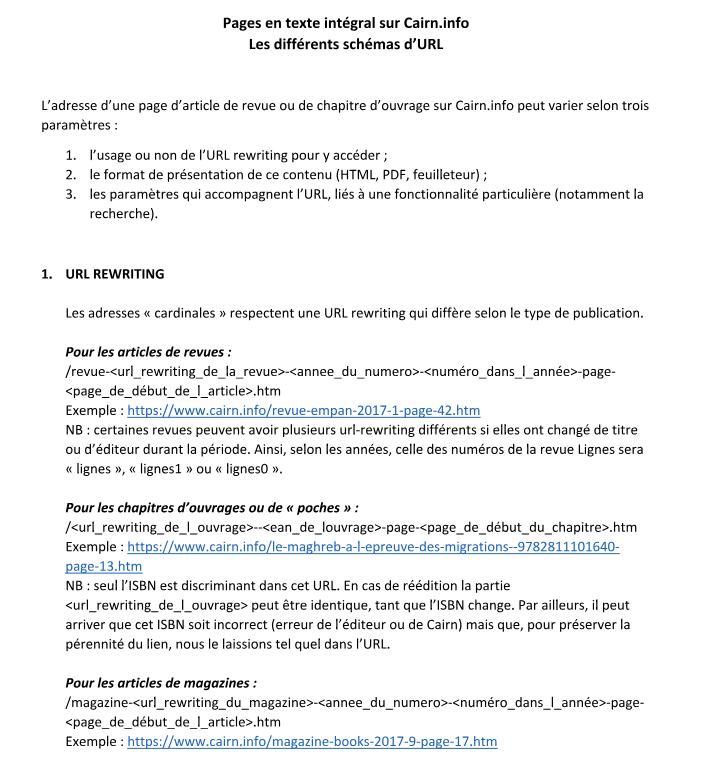 cairn document url texte integral