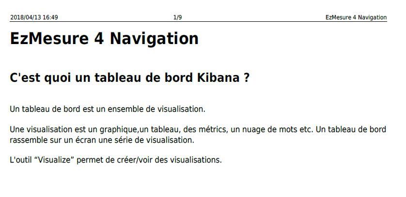 ezmesure 4 navigation