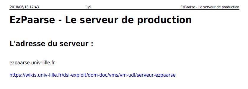 ezpaarse serveur d production
