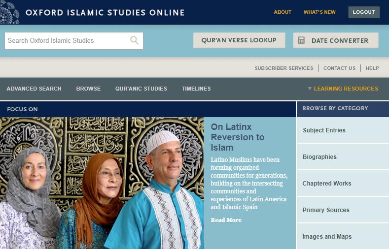 oxford islamics studies site