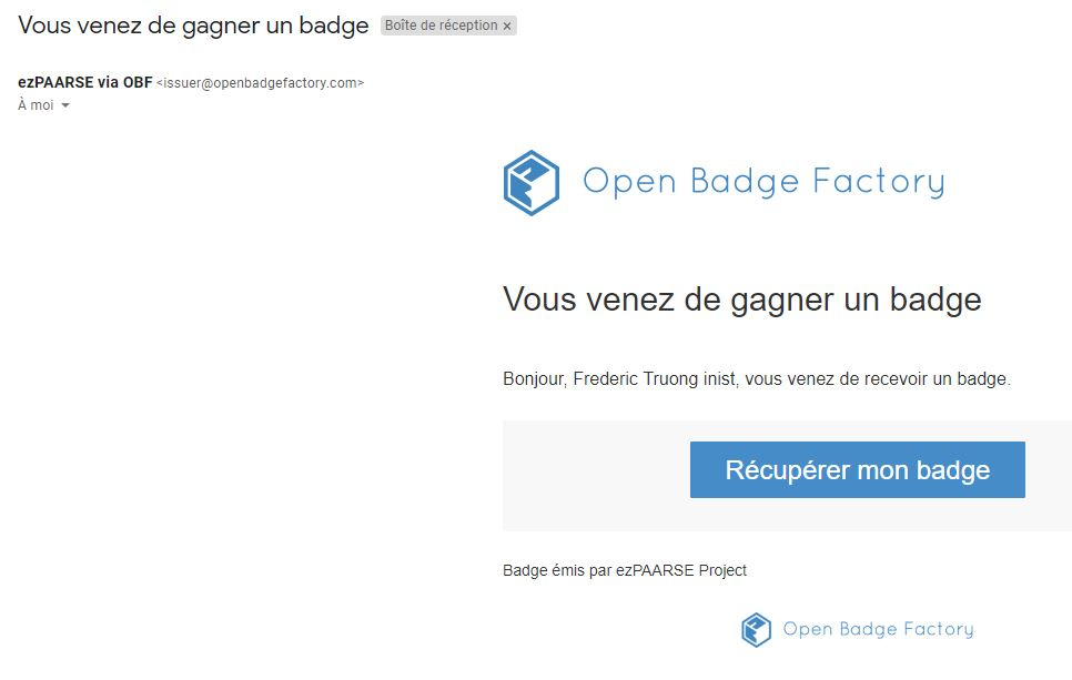 badge email