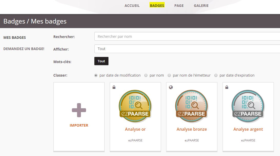openbadge passport liste des badges acceptés