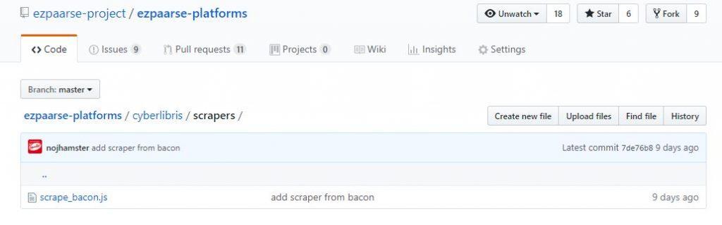 cyberlibris scrapeur BACON