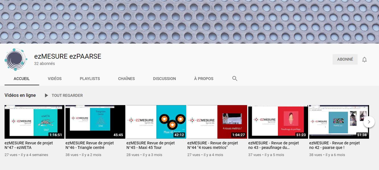 ezpaarse chaine youtube
